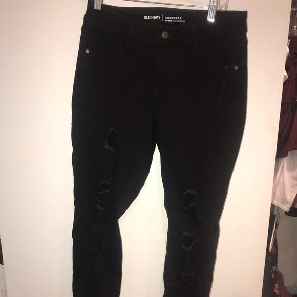 Old Navy Denim - Black Ripped Jeans